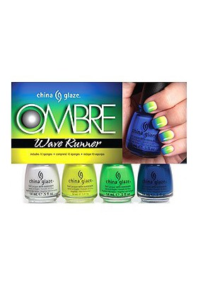Ombre - Wave Runner Set (China Glaze Nail Polish)