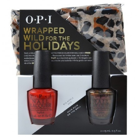 Wrapped Wild for the Holidays Duo 2 + Free Cheetah Infinity Scarf (OPI Nail Polish)