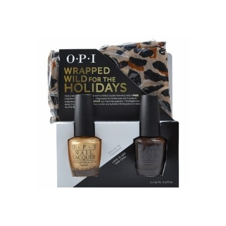 Wrapped Wild for the Holidays Duo 1 + Free Cheetah Infinity Scarf (OPI Nail Polish)