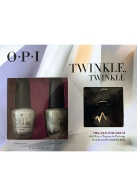 OPI Duo Pack - Twinkle Twinkle with FREE Midi Ring (OPI Nail Polish)