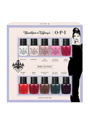 Breakfast at Tiffany's The Classics Mini 10-Pack (OPI Nail Polish)
